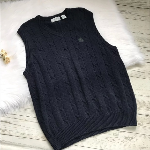 NWT IZOD Cable Knit Gray Sweater Vest Boys Size Small 4